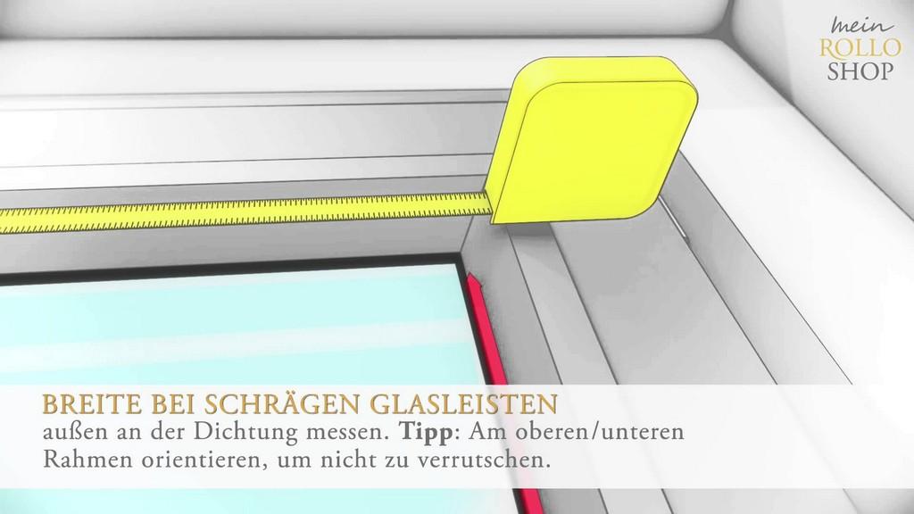 Richtig Messen Bei Plissee Montage In Der Glasleiste Wwwin regarding size 1920 X 1080