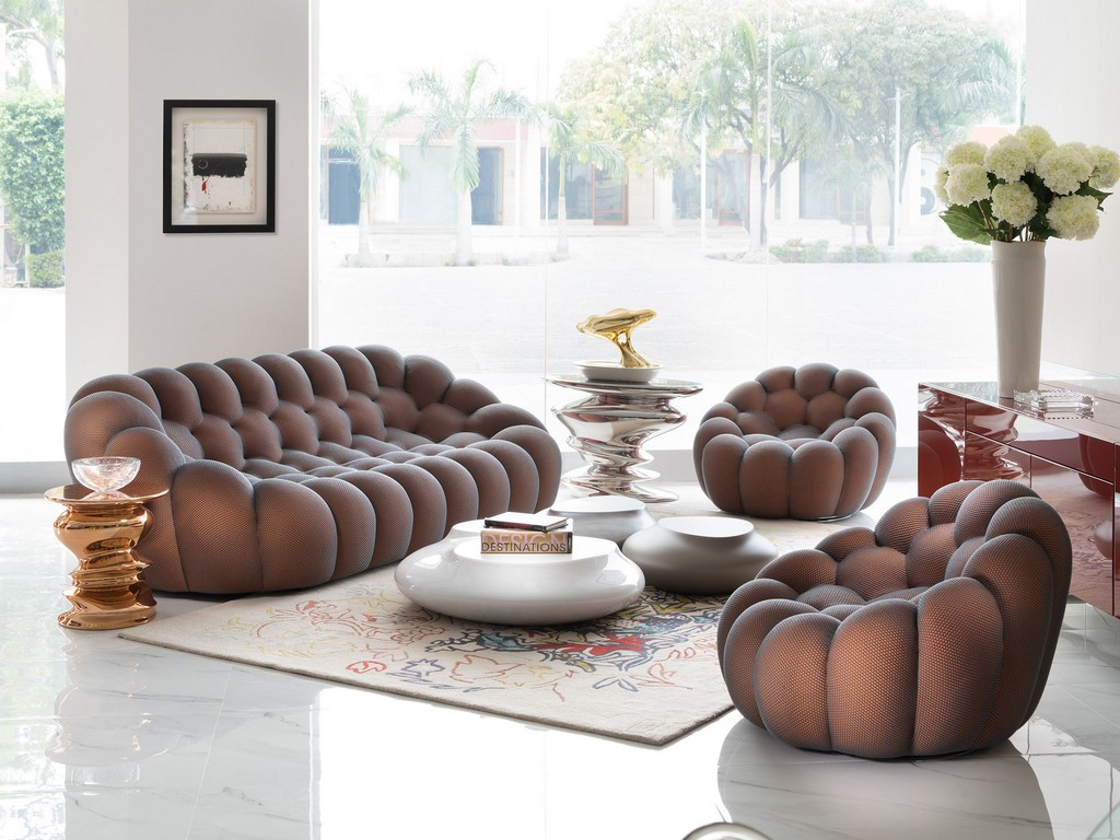 Roche Bobois New Delhi India Bubble Sofa Showroom Display in size 2400 X 1800