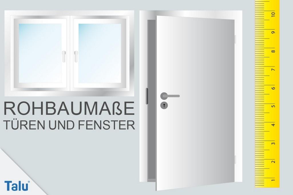 Rohbaumae Von Tren Und Fenstern Nach Din Inkl Pdf Talude with regard to proportions 1200 X 800