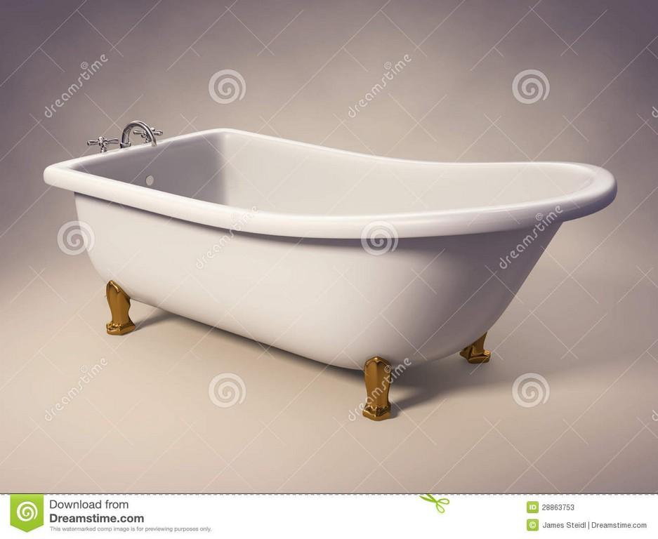 Roheisen Stehende Badewanne Stock Abbildung Illustration Von Voll in size 1300 X 1065