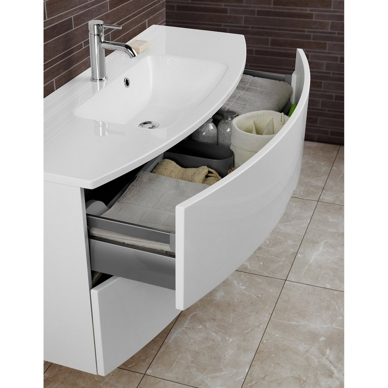 Scanbad Badmbel Set 90 Cm Mit Spiegelschrank Modern Wei Hochglanz with regard to dimensions 1500 X 1500