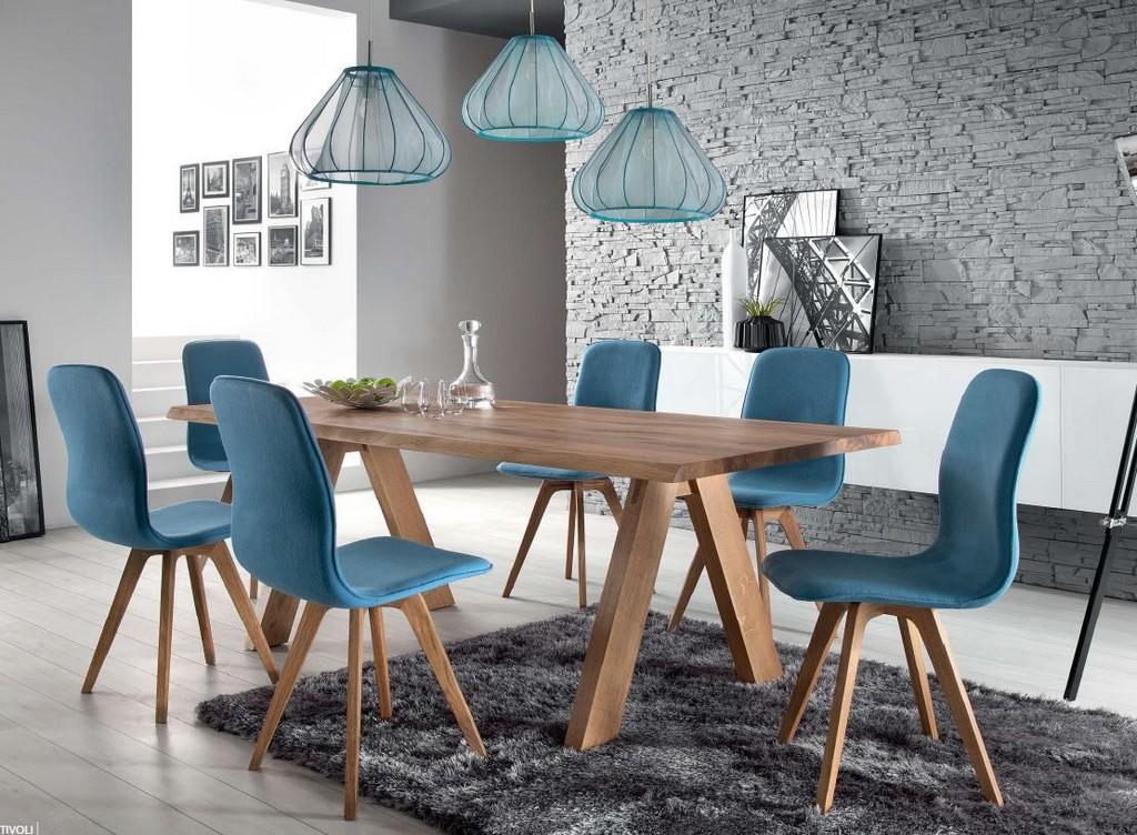 Schalenstuhl Stuhl Esszimmer Modern Blau Eiche Massiv Hellblau pertaining to proportions 1111 X 816