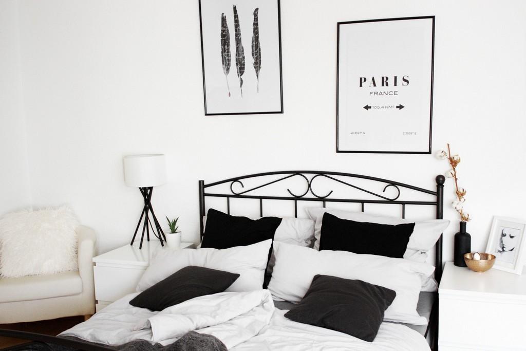 Schlafzimmer Einrichtung Bett Minimal Interior Dekoration Wohnen within measurements 1500 X 1000