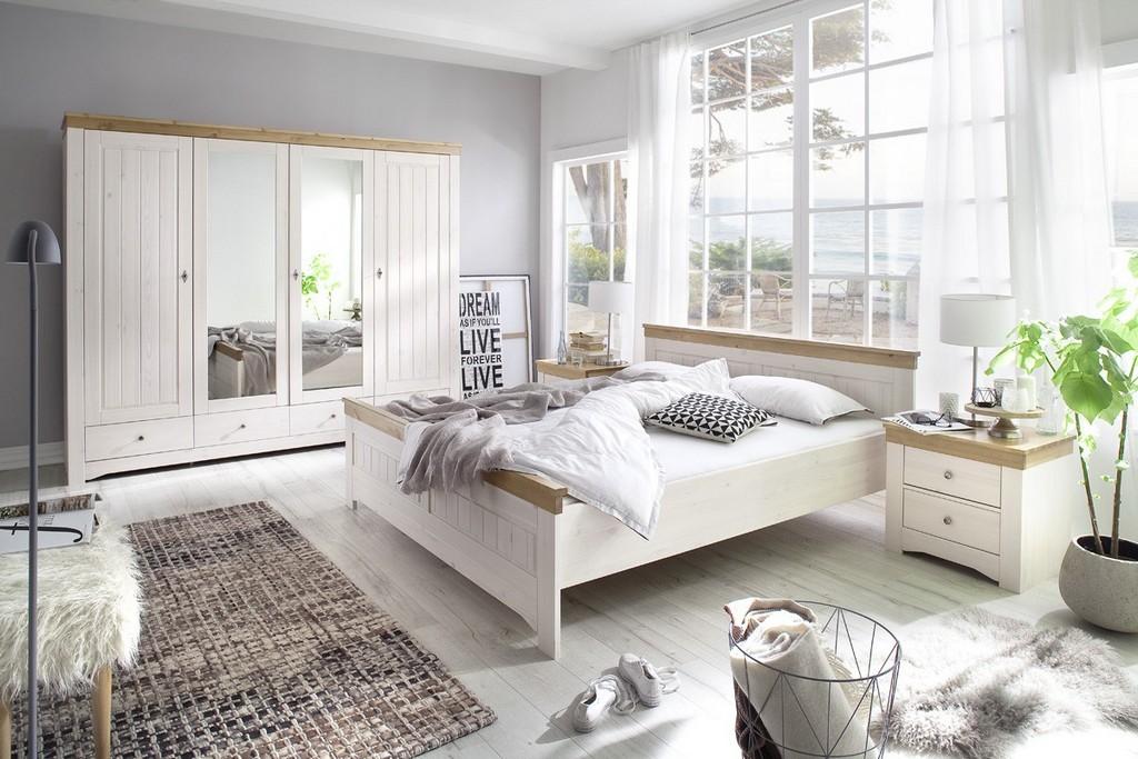 Schlafzimmer Set Kiefer Massiv Weiantik Husum throughout size 1200 X 800