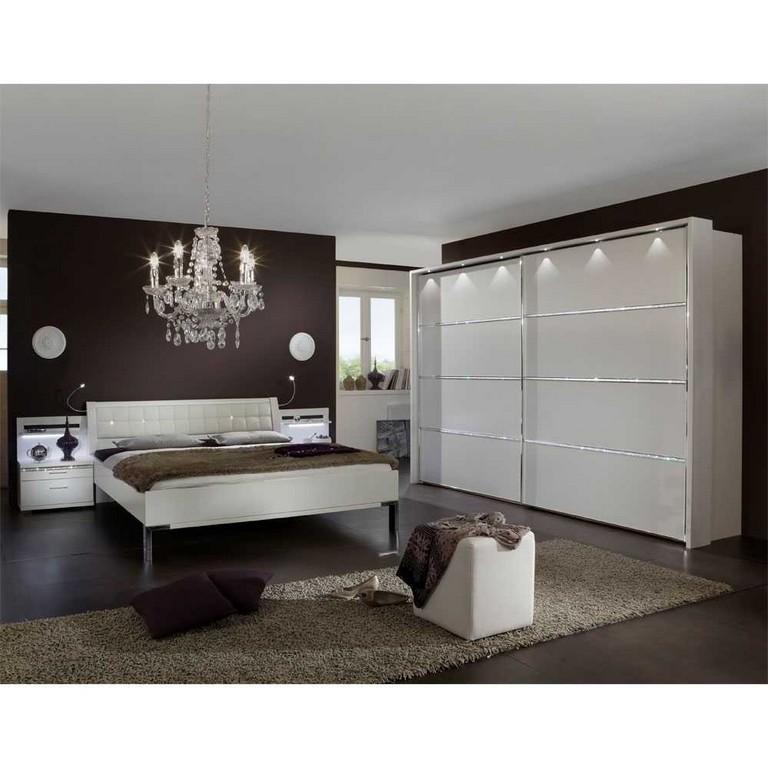 Schlafzimmer Set Laspana Mit Strass In Wei Wohnende regarding proportions 1000 X 1000