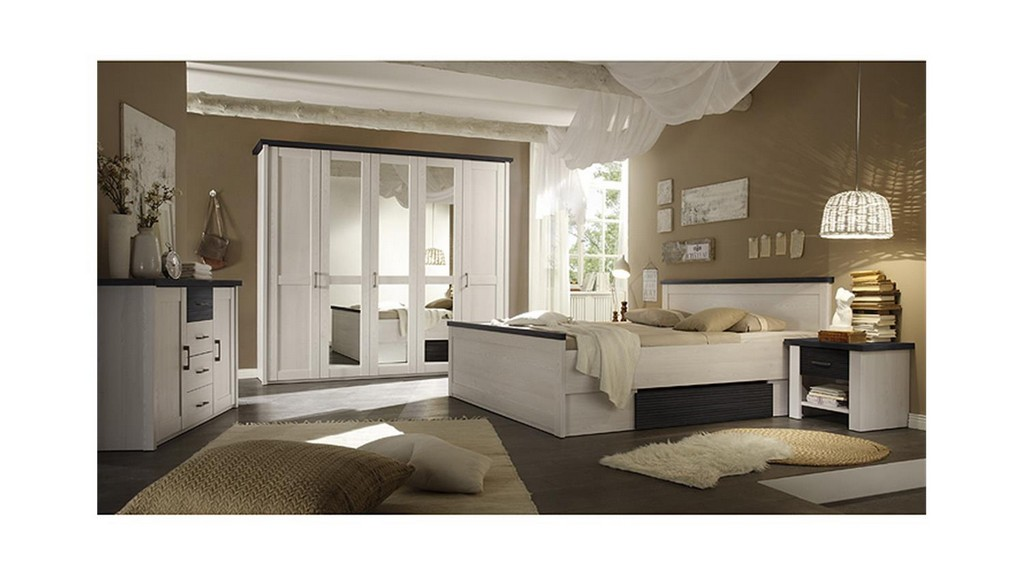 Schlafzimmer Set Luca Pinie Wei Und Touchwood 4 Teilig in measurements 1500 X 844