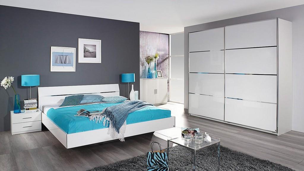 Schlafzimmer Set Starnberg Bett Schrank Wei Hochglanz regarding proportions 1500 X 844