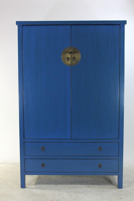 Schrank Kleiderschrank Hochzeitsschrank Blau Lf040 B 001 with regard to proportions 2000 X 3000