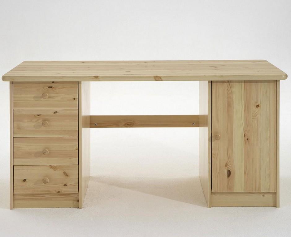 Schreibtisch 150x65x78cm 4 Schubladen Links 1 Tr Rechts Kiefer pertaining to dimensions 1024 X 837