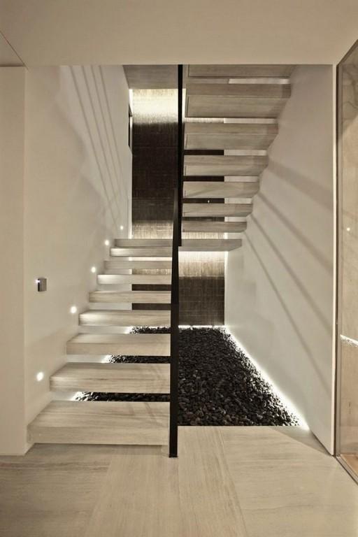 Schwebende Treppen Aus Sichtbeton Mit Indirekter Beleuchtung Home pertaining to size 750 X 1125