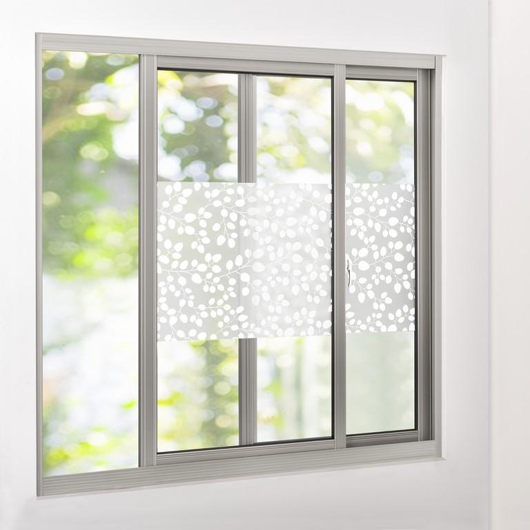 Sichtschutzfolie Milchglas Bltter 50 Cm X 1 M Statisch Fenster intended for measurements 2000 X 2000