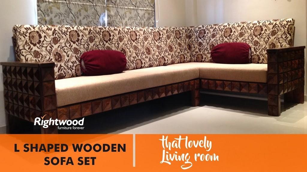 Sofa Set Designs L Shaped Wooden New Design Diamond Rightwood regarding dimensions 1280 X 720