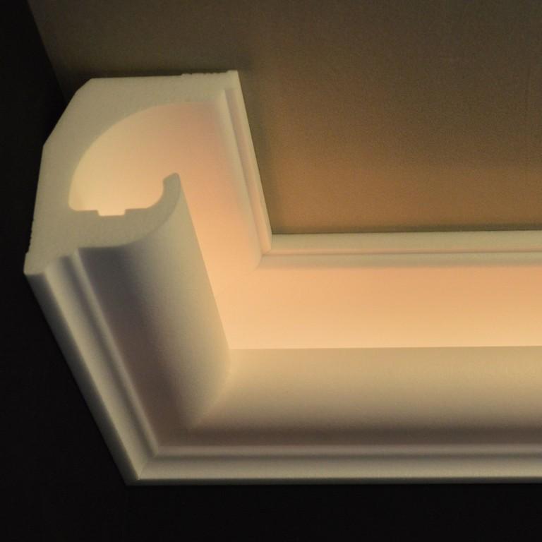 Stuck Ledbeleuchtung Profil Zierprofil throughout dimensions 1600 X 1600