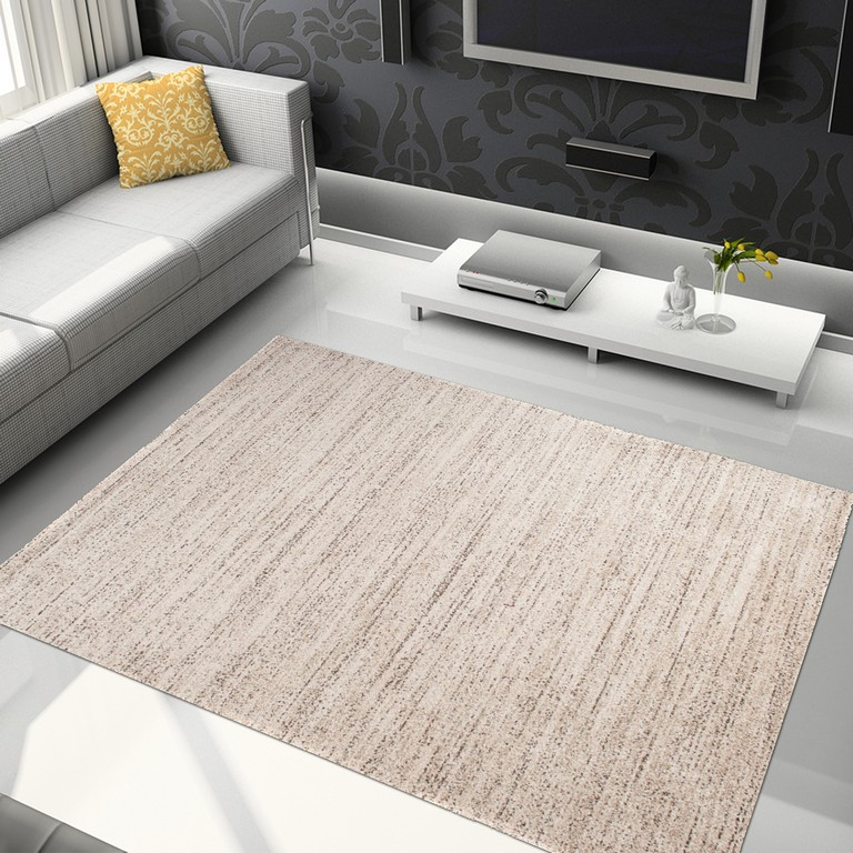 Tapiso Sari Teppich Kurzflor Modern Teppiche In Creme Meliert within proportions 1500 X 1500