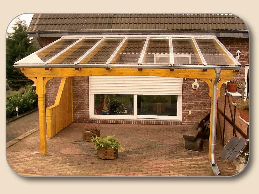 Terrassenberdachung Glas Vsg Und Holz Bausatz Von Holzon for proportions 2048 X 1536