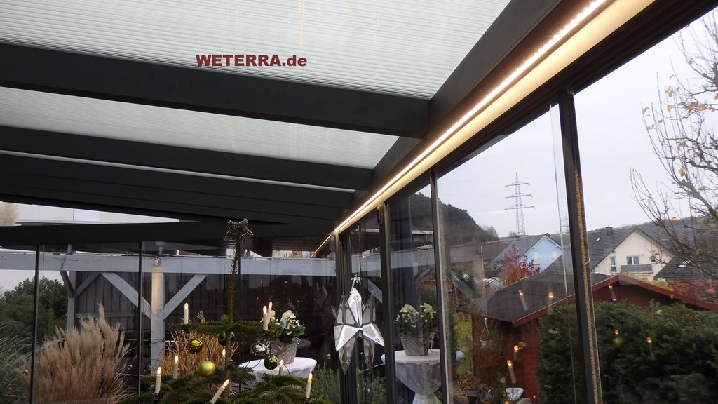 Terrassenberdachung Led Stripes Weterra Terrassendcher pertaining to dimensions 1276 X 718
