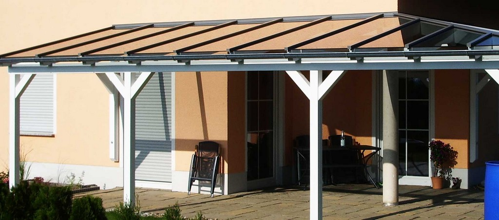Terrassenberdachung Selber Bauen Mit Einem Glasdach Bauen throughout sizing 1709 X 755