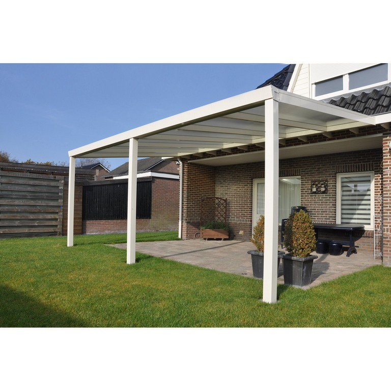 Terrassenberdachung Wei Polycarbonat Klar 600 Cm X 400 Cm Kaufen within proportions 1500 X 1500