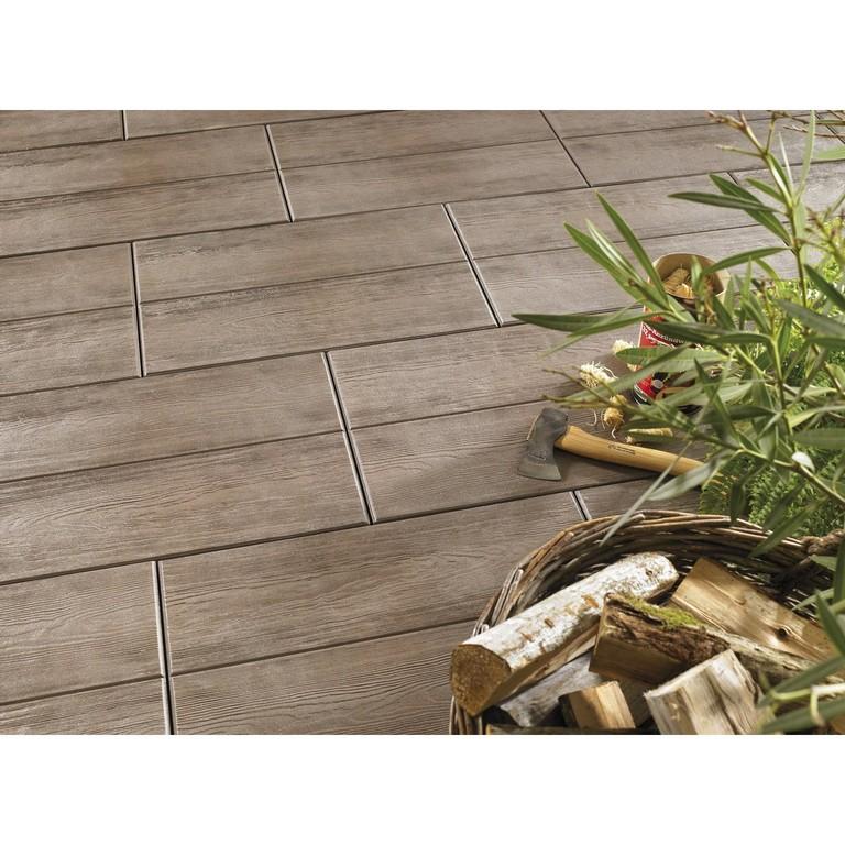 Terrassenplatte Beton Holzdiele Dunkelbraun Beschichtet 60 Cm X 40 in proportions 1500 X 1500