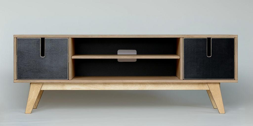Tv Board Aus Holz In Wei Schwarz inside proportions 1596 X 798