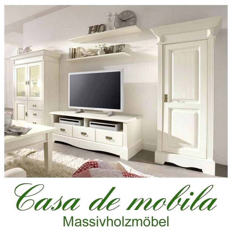 Wohnzimmerschrank Landhausstil Weiss Haus Ideen