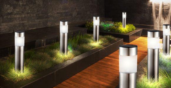 12er Set Led Solar Steck Leuchten Garten Weg Auen Beleuchtung Ip44 in proportions 1000 X 1000