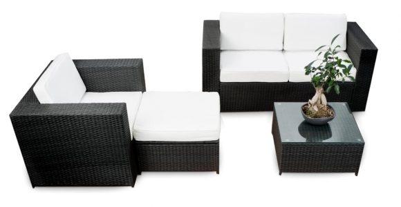 12tlg Balkon Lounge Set Rattan Xxl Gartenmbel Real in size 1024 X 1024