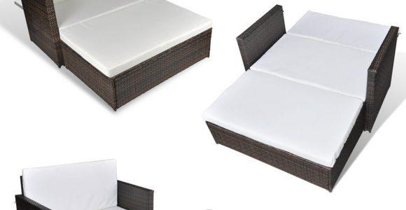 3 In 1 Rattan Sofabett Sofa Lounge Gartengarnitur Gartenliege with regard to sizing 1000 X 1000