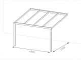 400 X 250 Cm Aluminium Terrassenberdachung Premiumline Mit inside sizing 2500 X 1504