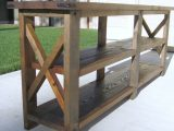 Ana White Diy Rustic X Console Table Diy Projects with regard to size 2346 X 3128