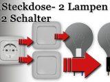 Anschluss Steckdose U 2 Lampen 2 Schalter Am Schaubild Von inside dimensions 1920 X 1080