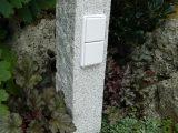 Auensteckdosen Aus Naturstein Strom Im Garten Gartensteckdose in dimensions 768 X 1024