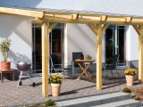 Aufbau Einer Leimholz Terrassenberdachung regarding proportions 4200 X 2568