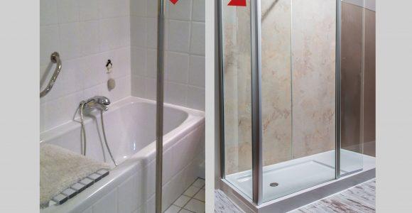 Aus Ihrer Alten Badewanne Wird Ein Gerumiges Duschvergngen within proportions 3035 X 2285