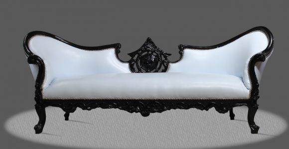 Barock Deluxe Mbel Barock Couch Sofa Weiss Schwarz Kunstleder intended for sizing 1280 X 800