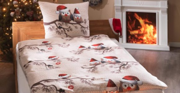 Biber Bettwsche Weihnachts Eule 135×200 Natur Dnisches in size 960 X 960