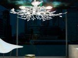 Decken Leuchte Beleuchtung Acryl Bltter Verchromt Wohnzimmer Lampe in sizing 1000 X 1000
