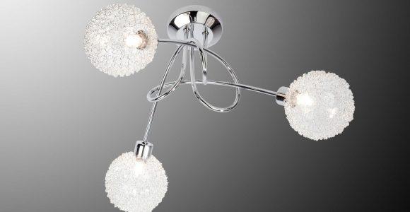 Deckenleuchte Spider Lampe Mit Drahtkugeln In Chrom Und Halogen pertaining to proportions 1500 X 844