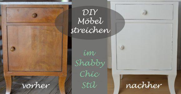 Diy Shab Chic Stil Altes Schrnkchen Mit Weier Kreidefarbe with measurements 1920 X 1080