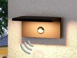 Eckige Led Auenwandlampe Darina Bewegungsmelder Kaufen Lampenweltde with sizing 1800 X 1800