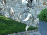 Edelstahl Skulpturen Skulptur Aus Und Glas Garten Kaufen Moderne inside sizing 1029 X 1029