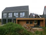 Einfamilienhaus Modern Holzhaus Satteldach Holzfassade Modern within proportions 1024 X 776