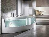 Ergonomische Eck Badewanne Mit Dusche Und Whirlpool Funktion Von with measurements 1280 X 720