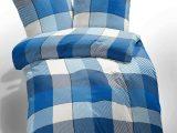 Etrea Microfaser Bettwsche 135×200 Cm Kariert Blau Wei Magitade with dimensions 1280 X 1564