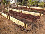Garten Gestaltung Naturnah Schotter Holz Natursteine Gemsegarten with dimensions 1600 X 785