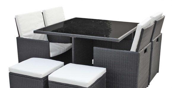 Gartenmbel Set 4er Sitzgruppe Dining Lounge Polyrattan Schwarz Asviva B Ware in size 1500 X 1500
