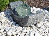 Granit Springbrunnen Gartenbrunnen Mit Led Beleuchtung Und Drehender within sizing 1000 X 1000