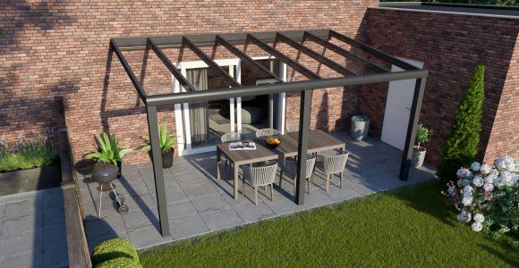 Greenline Terrassendach Glas Anthrazit Design 5000 Mm 2500 Mm within dimensions 1280 X 850