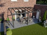 Greenline Terrassendach Glas Anthrazit Design 5000 Mm 2500 Mm within sizing 1280 X 850
