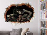 Halloween 3d Wandaufkleber Wohnzimmer Wandtattoo Schlafzimmer within measurements 1200 X 1200